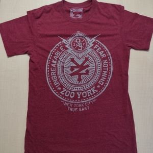 Zoo York Burgundy Unbreakable Fear Nothing New York City True East 93 T Shirt